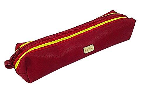 Zerimar Ledertasche Beutel aus hochwertigem Qualität Leder für Make-up oder andere Verwendungen Farbe rote spanien Größe 17x4x5