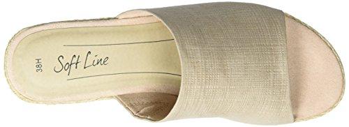 Softline 27361, Sandalias Tipo Chanclas para Mujer Beige (Dune Metallic 407)