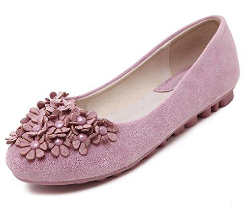 Fiori Dolci Da Donna A Tinta Unita E Tinta Unita Slip On Slip Shoes Scarpe Da Ginnastica Rosa