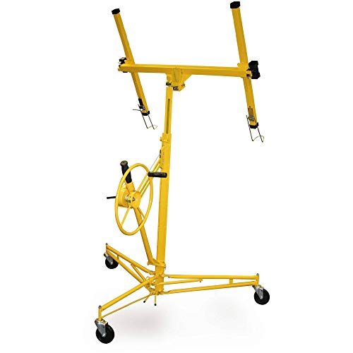 PRO-SERIES Heavy Duty Drywall and Panel Hoist Lifts up to 16 Ft. Long with Built-in Rolling ()