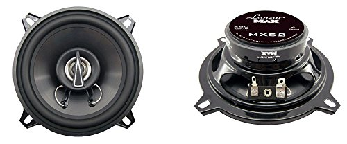 Lanzar Upgraded Standard 5.25'' 3 Way Triaxial Speakers - Full Range 240 Watts and 4 Ohms Impedance Injection Cone 80 - 20 KHz Frequency Response and 10 Oz Magnet Structure - MX52