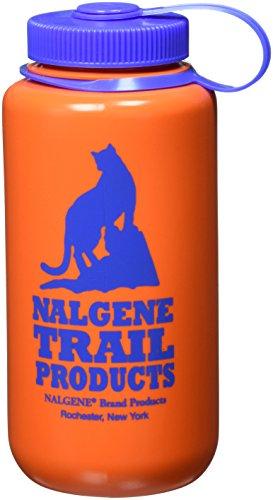 Nalgene HDPE Wide Mouth Bottle (Orange, 1 - Quart)