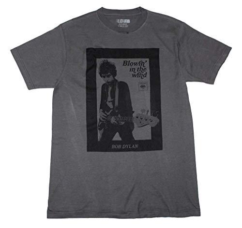 Bob Dylan Guitar Photo T-Shirt - 2XL Gray