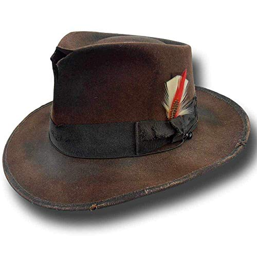 Hat Johnny Depp - Fedora Johnny replica hat Dusty Brown