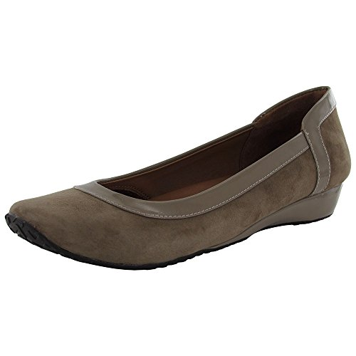 Suave Almas Mujeres Iso Block Slip-on Flat Earth
