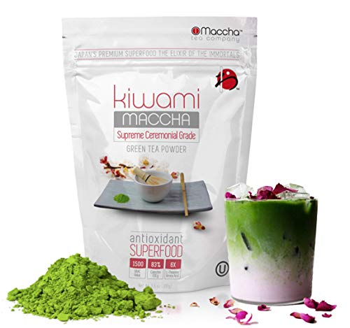 Matcha Green Tea Powder (KIWAMI - Japans Premium Ceremonial First Harvest Sipping Matcha for the Discerning Enthusiast) Vivid Green Color, Smooth Flavor with a Mellow Balance of Sweet - 100g (3.5 oz)