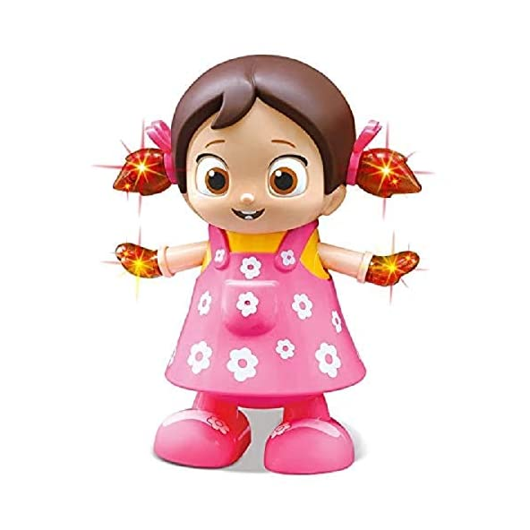 FunBlast Cute Musical Dancing Doll with Flashing Lights | Dancing Doll Musical Toys for Babies,Kids,Girls,Boys