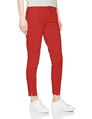 Skinny burnt Red Jeans Silver Femme Jean Elyse Rouge qa7WxA6w