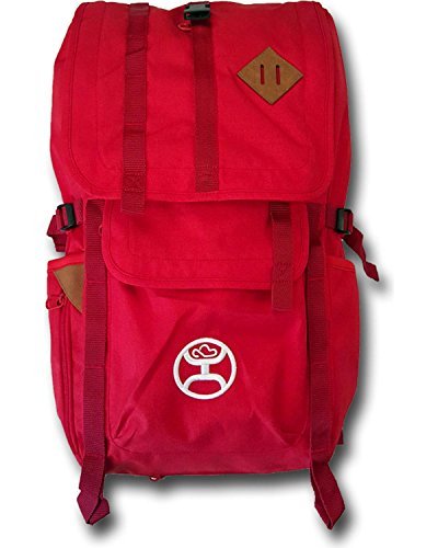 Top Loading Leather (Hooey Top Loading Laptop Backpack (Scarlet))
