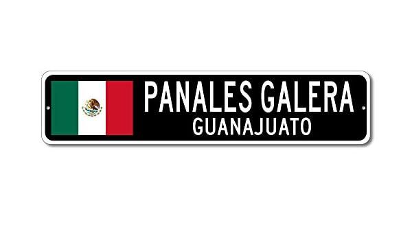 Amazon.com: Mexico Flag Sign - PANALES GALERA, GUANAJUATO - Mexican Custom Flag Sign - 9