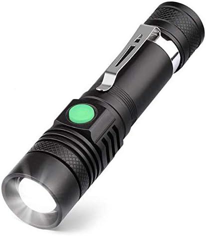 noir super lumineux 350 lumens LVYIMAO Mini lampe torche LED rechargeable par USB en forme de porte-cl/és la randonn/ée 5 modes avec m/émoire pour le camping les urgences