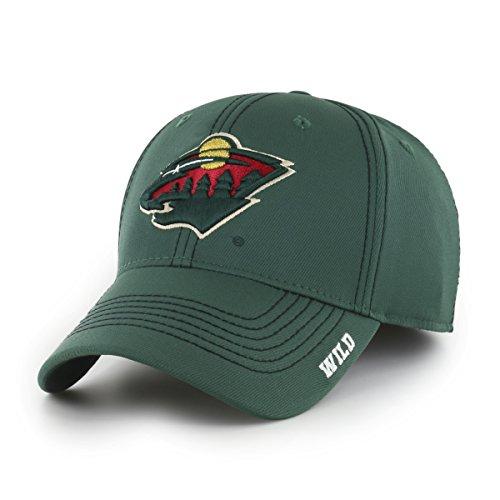NHL Minnesota Wild Adult Start Line Ots Center Stretch Fit Hat, Large/X-Large, Dark - Caps Wild Minnesota
