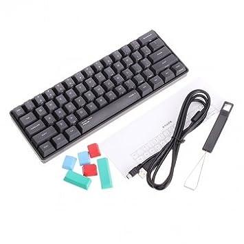 Tanzimarket - Teclado -Cherry alta calidad KBC Poker 2 Mini juego mecánico MX Interruptor Azul: Amazon.es: Electrónica