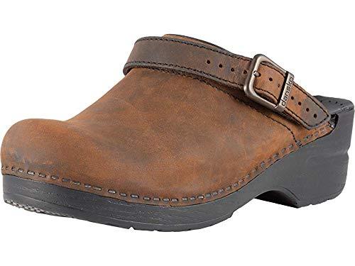 Dansko Women's INGRID Shoe, Antique Brown/Black, 40 Medium EU (9.5-10 US) ()