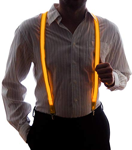 Neon Nightlife Men's Light Up LED Suspenders, One Size, -