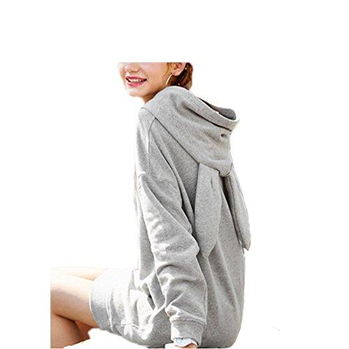 Hot Sale Lovely Womens Bunny Rabbit Ears Long Sleeve Hoodie Sweater