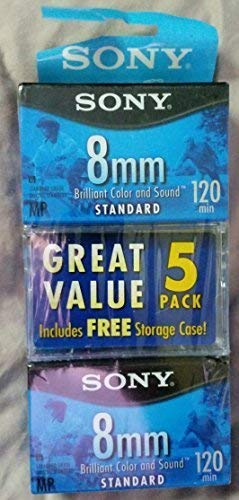 Sony 8mm Standard 120 minute 120MP Cassette Tape (5 Pack)