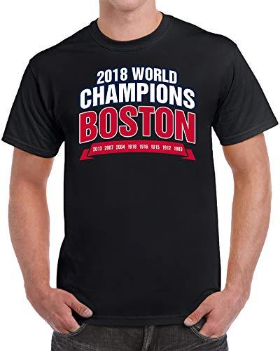 Boston 2018 World Champions Baseball Novelty Men's T-Shirt - (X-Large) - - World Champions Series