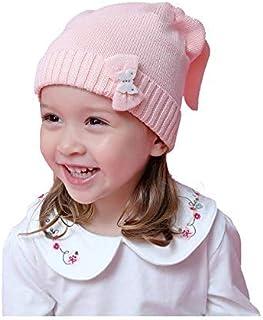 FERZA Home Cappello per Bambini Autunno e Inverno Lavorato a Maglia Cartoon Style Fatti a Mano Cappelli di Cotone Caldo Copricapo (Size : Small)
