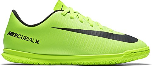 Nike Jr Mercurialx Vortex Iii Ic, Zapatillas de Fútbol Sala Unisex Niños Verde (Electric Green / Blk-Flsh Lm-Wht)