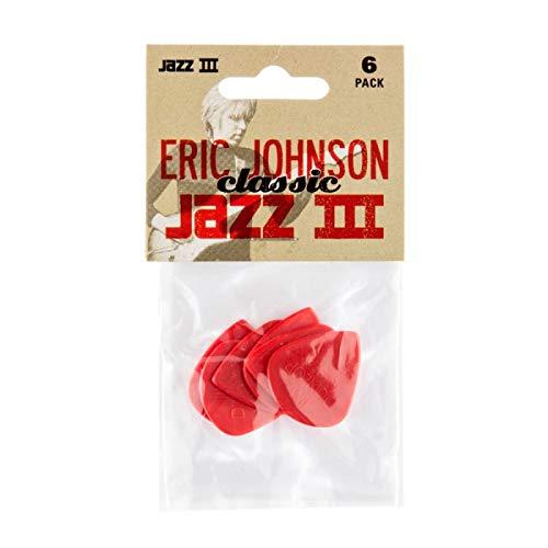 - PUAS DUNLOP - Nylon Jazz III Classic (47EJ/ES) Eric Johnson Signature (Bolsa con 6 Puas)