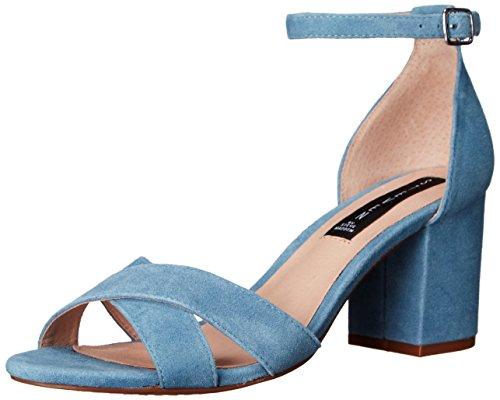 STEVEN by Steve Madden Women Voomme Dress Sandal Blue Suede