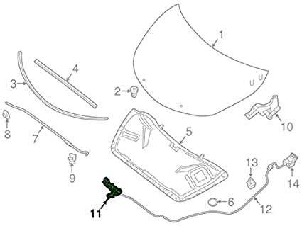 amazon oem 2013 2015 nissan altima sl sv model hood latch 2013 Polaris Ranger Wiring Diagram image unavailable image not available for