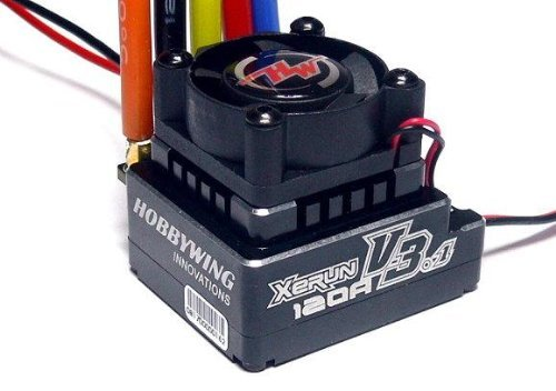 Hockus Accessories XeRun 120A V3.1 RC Brushless Motor ESC Speed Controller for 1/12th Touring Car Competitions for 1/10th, 1/12thTouring