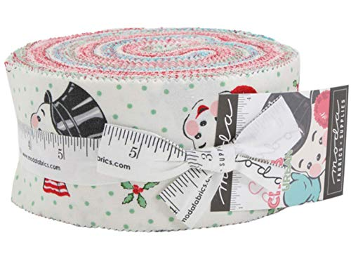 (Sweet Christmas Jelly Roll 40 2.5-inch Strips by Urban Chiks for Moda Fabrics)