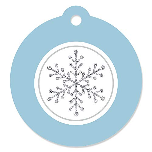 Winter Wonderland - Snowflake Holiday Party & Winter Wedding Favor Gift Tags (Set of 20)