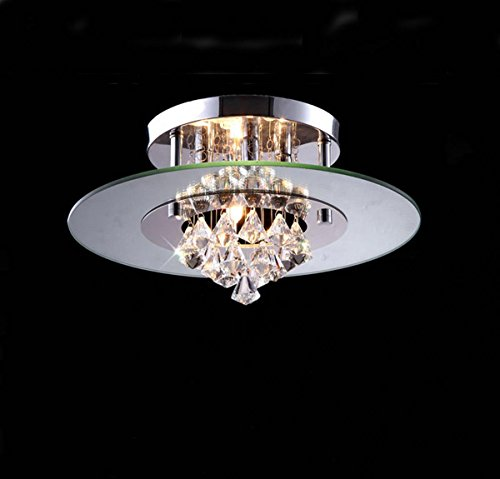 TUNBG AC110-240V 33W LED Simple and Elegant Modern Round Crystal Ceiling lamp for Study, Bedroom, Living Room, 390210(mm) ()