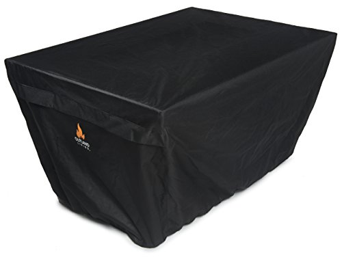 Outland Fire Table UV & Water Resistant Durable Cover for Outland Series 401 Outdoor Propane Fire Pit Tables, Rectangular 45-Inch x 33-Inch - Breathable Venting with Mesh Barriers and Watertight Seams