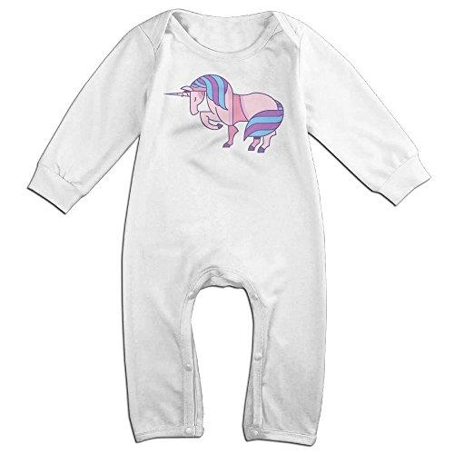 Newborn Baby Unicorn-remix Long Sleeve Climb Jumpsuit 24 Months (Miss Living Dead Costume)