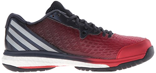 Adidas Performance Mens Energia Volley Boost 2.0 Pallavolo Pattino Rosso Vivo / Notte Metallizzato / Blu Scuro