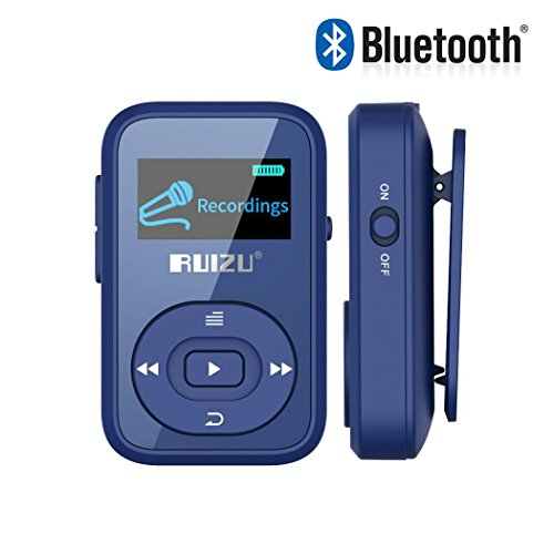 Eleston 8GB Portable Sport Clip Bluetooth MP3 Player with Lossless Sound and Expandable Micro SD Card up to 64GB for Jogging Running (Blue)