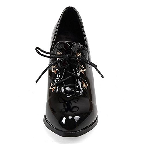2 Scarpe Moda Donna Zanpa Black x1g6SqnOw