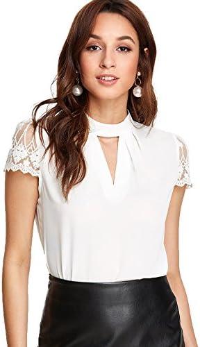 Romwe Womens Elegant Sleeve Keyhole product image
