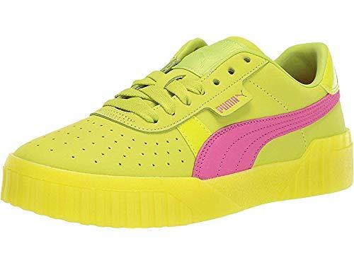 PUMA Women's Cali 90s Sneakers, Lime Punch/Fuchsia Purple, 8.5 M - Shoes Lime Platform