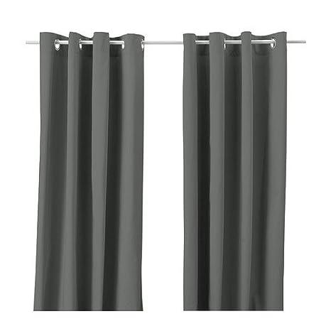 Ikea 102.568.49 MERETE Gardinenpaar in grau 145x300cm