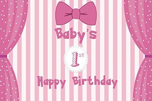 YongFoto 1,5x1m Cumpleaños Fotografía Fondo Bebé Feliz Primer ...