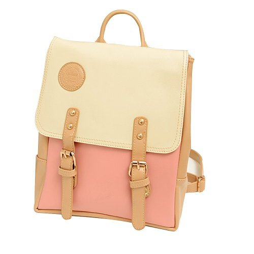 YOPO New Retro Vintage Casual Women's Backpack School Bag Fashion Travel School PU Leather Handbag ipad bag, four colors avaliable (Pink)