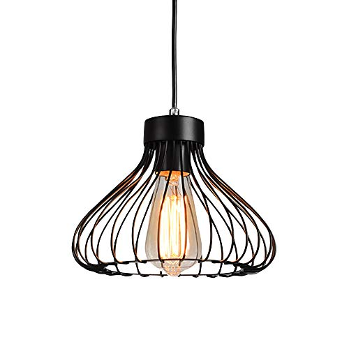 (Industrial Cage Pendant Light, MKLOT Ecopower Retro 9.06