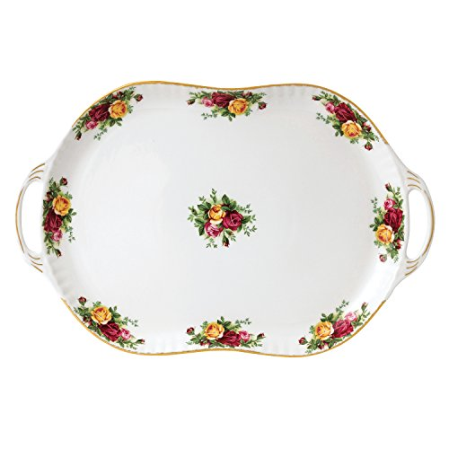 Royal Albert 40006484 Old Country Roses Handled Serving Platter, 19