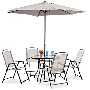 CASTLECREEK Complete Patio Dining Set 6 Pieces
