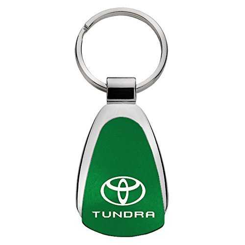 INC Toyota Tundra Green Teardrop Keychain Au-Tomotive Gold