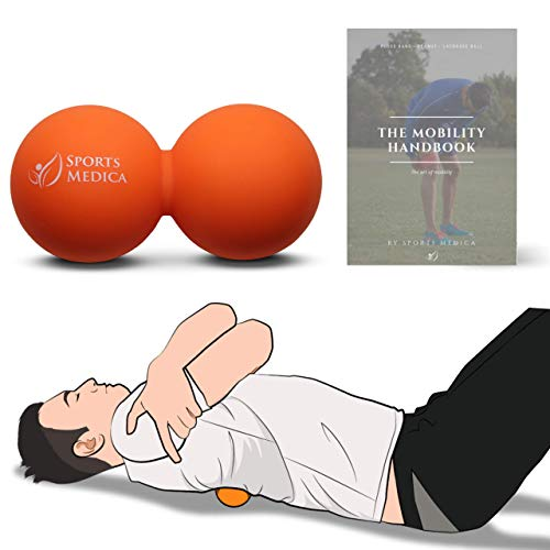 Sports Medica Doctor Developed Peanut Massage Ball - Perfect for Trigger Point Therapy, Injury, Recovery - The Mobility Handbook and Video Series Included ()