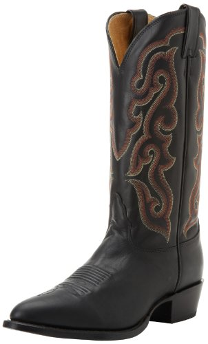 Nocona Boots Men's Legacy 4 Toe Leather Boot - Black Calf...