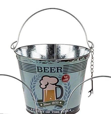 Beer bucket, beer cooler, ice bucket, vintage design with