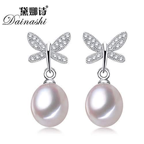 Cultured Freshwater Pearl Earrings for Women   Fashion Jewelry (Pink) ()