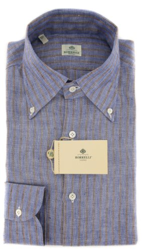 New Borrelli Blue Shirt 17/43